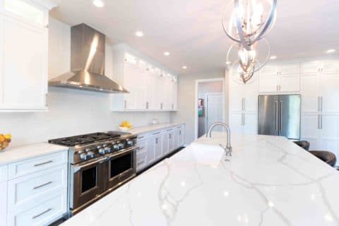 White Kitchen Countertops Project