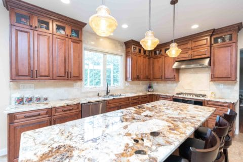 Brown Kitchen Countertops Project