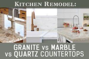 Quartz vs. Marble vs. Granite