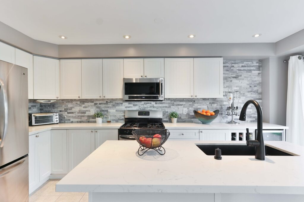 carrara marble in a kitchen