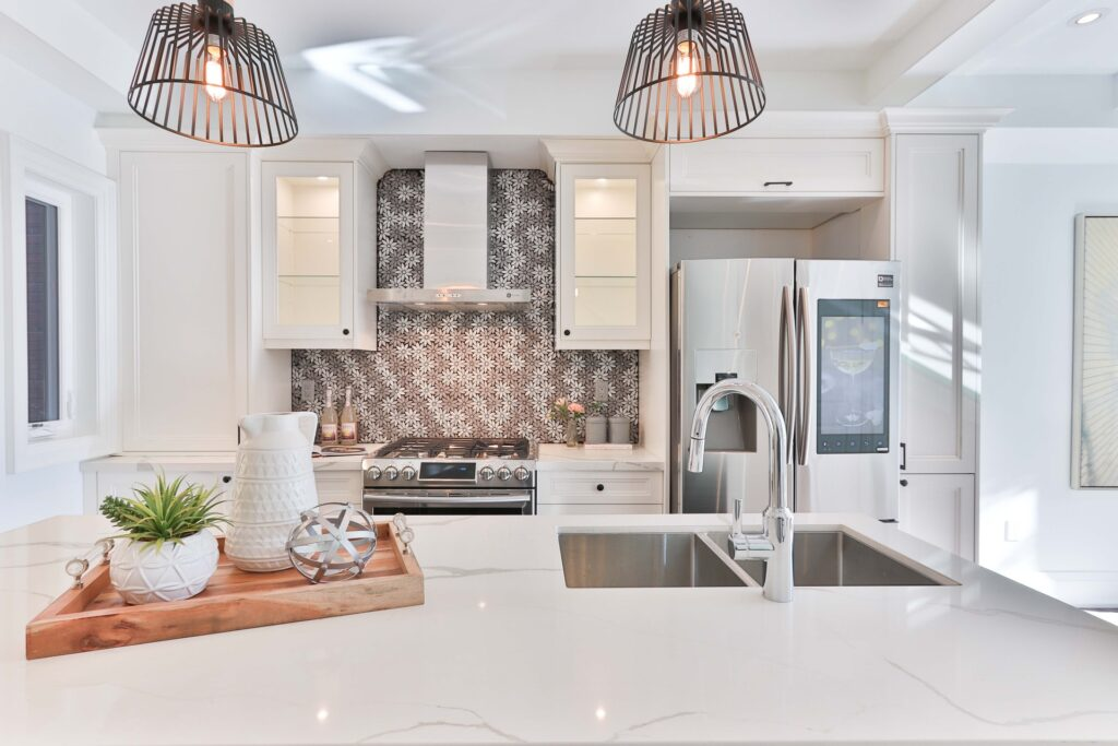 marble countertops in a kitchen