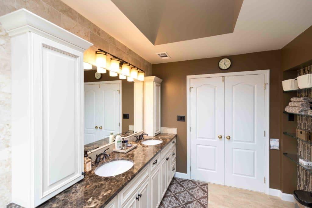 granite countertop in bathroom